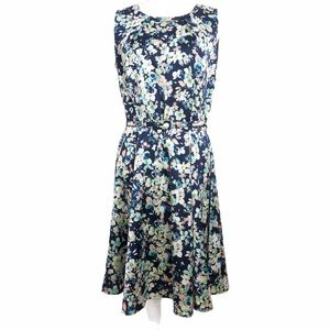 New York & Company Floral Fit & Flare Dress Sz 12